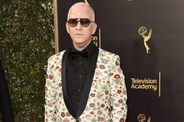 Ryan Murphy on the red carpet at the 2016 Creative Arts Emmys.