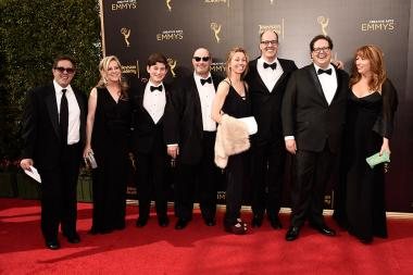 Steve Armogida and team on the red carpet at the 2016 Creative Arts Emmys.