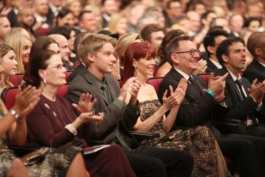 Carrie Preston and Michael Emerson at the 2016 Creative Arts Emmys.