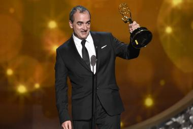 Victor Reyes accepts his award at the 2016 Creative Arts Emmys.