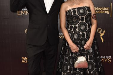 Don Diers and Denise Pizzini on the red carpet at the 2016 Creative Arts Emmys.