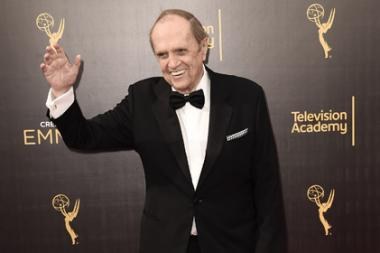 Bob Newhart on the red carpet at the 2016 Creative Arts Emmys.
