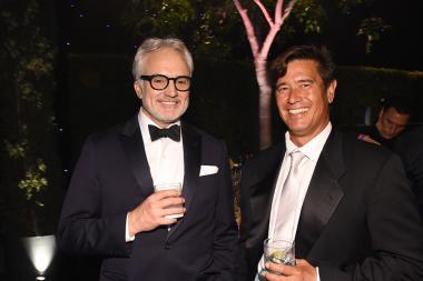 Bradley Whitford and John Tempereau at the 2016 Creative Arts Ball.