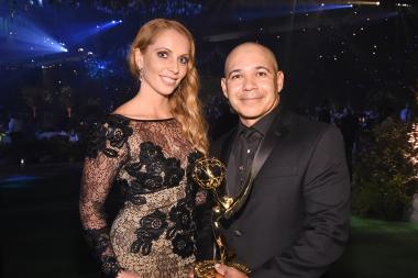 Cecilia Johnson and Eddie Perez at the 2016 Creative Arts Ball.