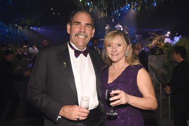Edward Fassl and Erin Fassl at the 2016 Creative Arts Ball.