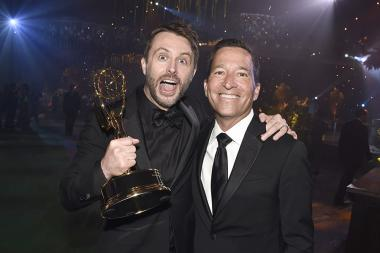 Chris Hardwick and Bruce Rosenblum at the 2106 Creative Arts Ball.