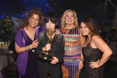 Bonnie Greenberg, Diane Warren, Anne O'Shea, and Julie Smolyansky at the 2016 Creative Arts Ball.