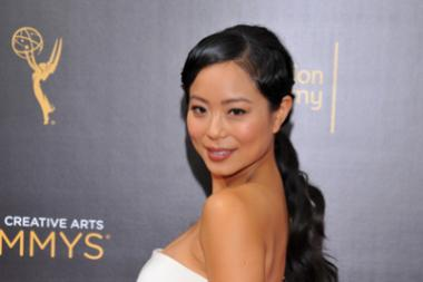 Michelle Ang on the red carpet at the 2016 Creative Arts Emmys.