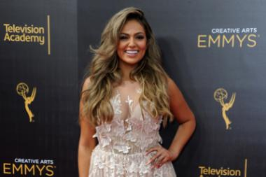 Bethany Mota on the red carpet at the 2016 Creative Arts Emmys.
