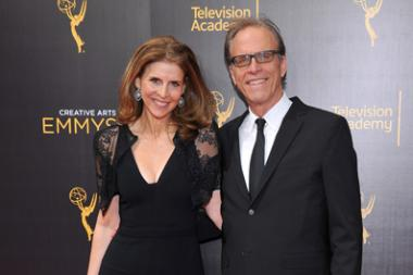 Amy Ziering and Kirby Dick on the red carpet at the 2016 Creative Arts Emmys.