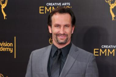 Kevin Sizemore on the red carpet at the 2016 Creative Arts Emmys.