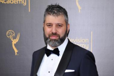 Evgeny Afineevsky on the red carpet at the 2016 Creative Arts Emmys.