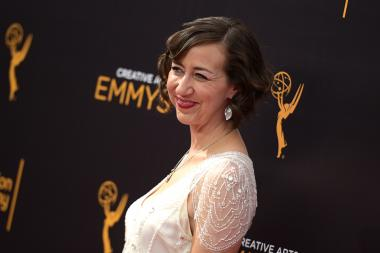 Kristen Schaal on the red carpet at the 2016 Creative Arts Emmys