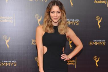 Katharine McPhee on the red carpet at the 2016 Creative Arts Emmys.