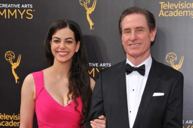 Claudia Kernan and Gary R. Benz on the red carpet at the 2016 Creative Arts Emmys.