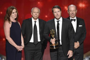 The producers for Cartel Land accept their award at the 2016 Creative Arts Emmys.
