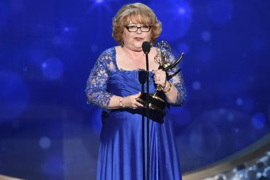 Patrika Darbo accepts her award at the 2016 Creative Arts Emmys.