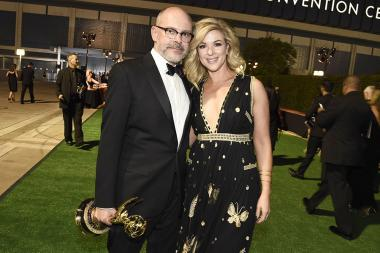 Rob Corddry and his wife at the 2016 Creative Arts Ball.