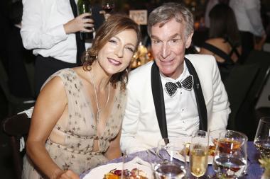 Helen Matsos and Bill Nye at the 2016 Creative Arts Ball.