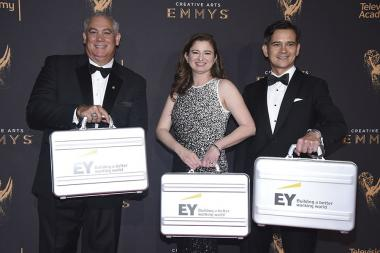 Ernst & Young Accountants on the red carpet at the 2017 Creative Arts Emmys.
