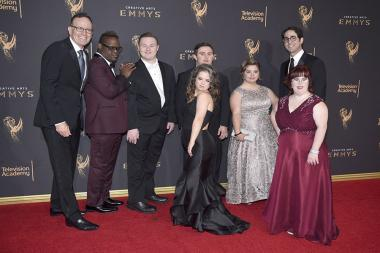 The Born This Way cast on the red carpet at the 2017 Creative Arts Emmys.