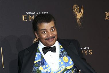 Neil deGrasse Tyson on the red carpet at the 2017 Creative Arts Emmys.