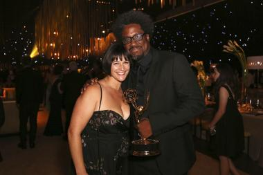 W. Kamau Bell and Melissa Bell at the 2017 Creative Arts Ball.