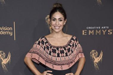 Natalia Cordova-Buckley on the red carpet at the 2017 Creative Arts Emmys.