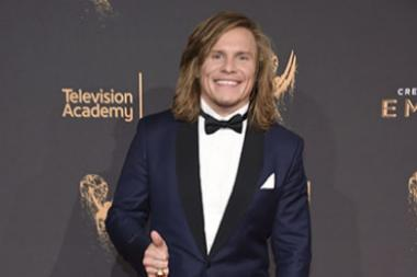Tony Cavalero on red carpet at the 2017 Creative Arts Emmys.