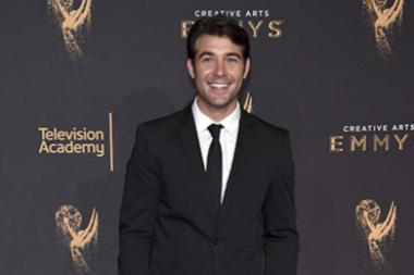 James Wolk on the red carpet at the 2017 Creative Arts Emmys.