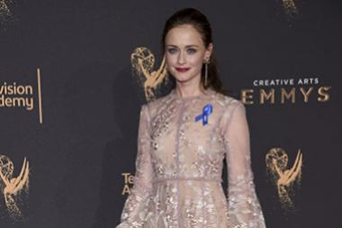 Alexis Bledel on the red carpet at the 2017 Creative Arts Emmys.