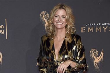 Heather Pain on the red carpet at the 2017 Creative Arts Emmys.