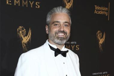 Eric Raber on the red carpet at the 2017 Creative Arts Emmys.