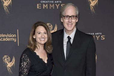Jeff Beal and Joan Beal on the red carpet at the 2017 Creative Arts Emmys.