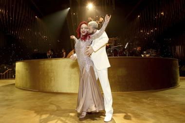 Sharna Burgess and Artem Chigvintsev perform at the 2017 Creative Arts Ball.