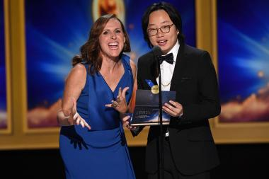 Molly Shannon and Jimmy O. Yang