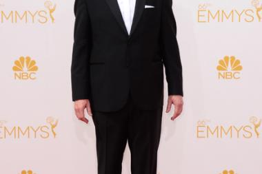 Matt Walsh of Veep arrives at the 66th Emmy Awards.