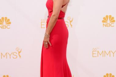 Julia Louis-Dreyfus of Veep arrives at the 66th Emmy Awards.