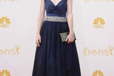 Rose Leslie of Game of Thrones arrives at the 66th Emmy Awards.