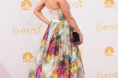 Betsy Brandt of Masters of Sex and Breaking Bad arrives at the 66th Emmys.