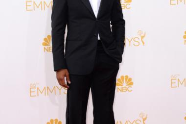 Chiwetel Ejiofor of Dancing on the Edge arrives at the 66th Emmy Awards.