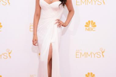 Syd Wilder arrives at the 66th Emmy Awards.