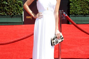 G. Hannelius arrives for the 2014 Primetime Creative Arts Emmys.