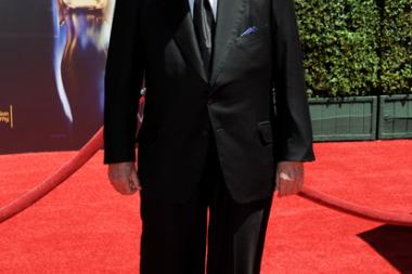 James Lipton arrives for the 2014 Primetime Creative Arts Emmys.