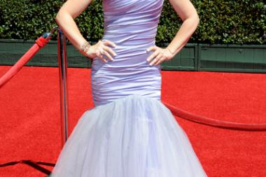 Leigh-Allyn Baker arrives for the 2014 Primetime Creative Arts Emmys.