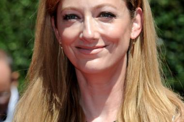 Judy Greer arrives of Archer for the 2014 Primetime Creative Arts Emmys.