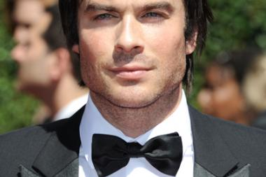 Ian Somerhalder arrives for the 2014 Primetime Creative Arts Emmys.