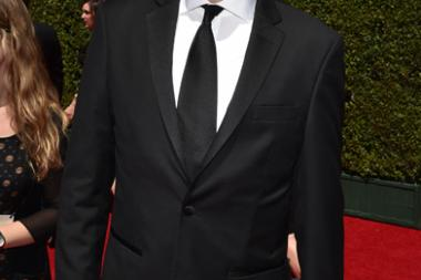 Scott Aukerman arrives for the 2014 Primetime Creative Arts Emmys.