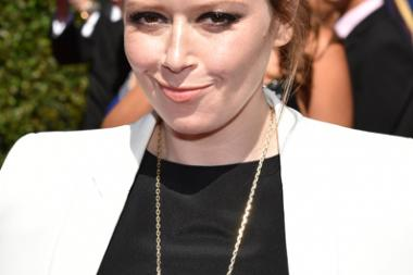 Natasha Lyonne arrives for the 2014 Primetime Creative Arts Emmys.