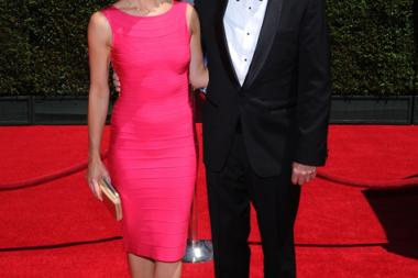 Alisa Hauser and Bob Christanson arrive for the 2014 Primetime Creative Arts Emmys.
